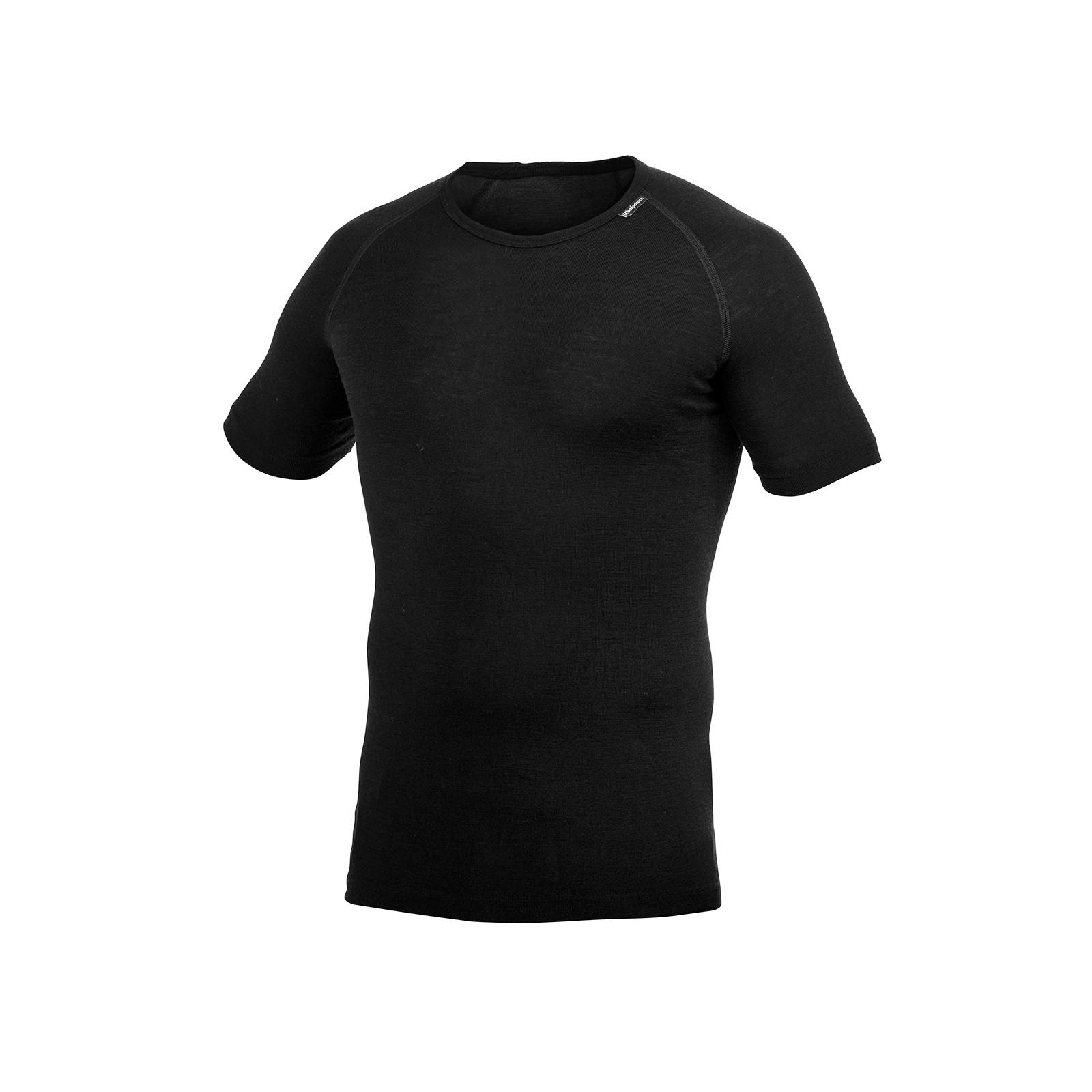 T-Shirt  en laine mérinos Woolpower Tee Lite Noir/Black
