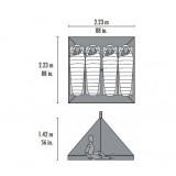 Dimensions Msr Front Range Tapis de sol / moustiquaire