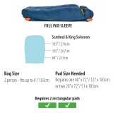 Dimensions Big Agnes King Solomon 15