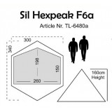 Dimensions Luxe Outdoor Sil Hexpeak F6a