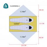 Dimensions Tente Sierra Designs Clearwing 2