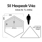 Dimensions Luxe Outdoor Sil Hexpeak V4a