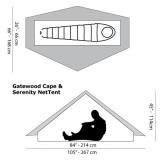 Dimensions Six Moon Designs Gatewood Cape