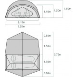 Dimensions Tente Exped Outer Space II