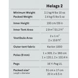 Dimensions Hilleberg Helags 2