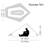 Dimensions Tente Six Moon Designs Skyscape Trekker