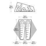 Dimensions Big Agnes Tiger Wall UL2 Bikepack Solution Dye