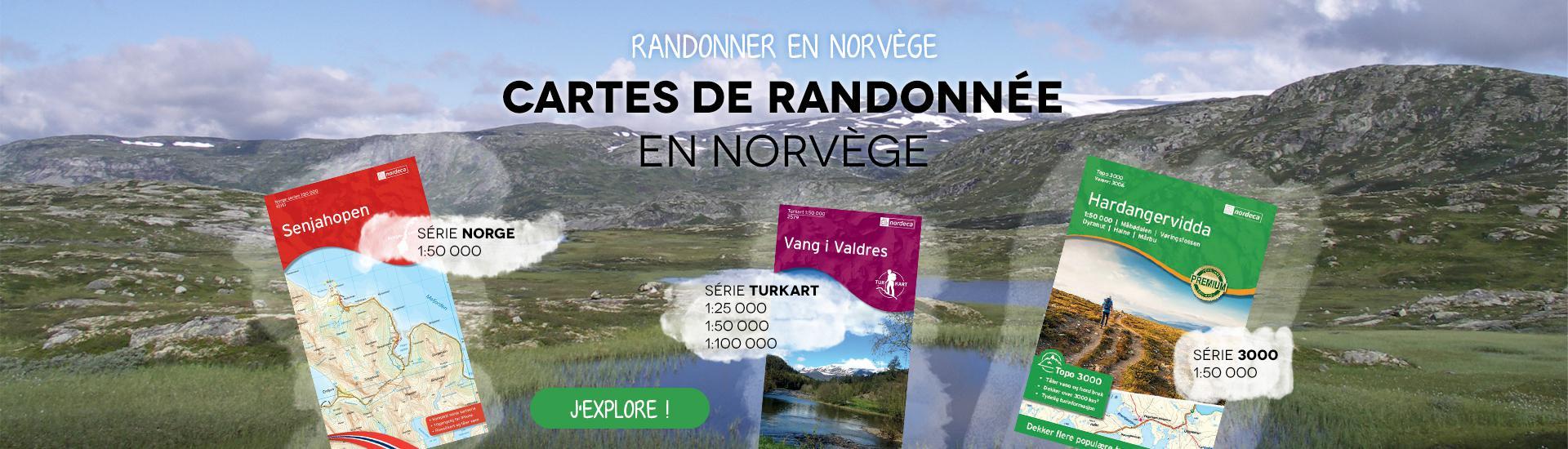 Cartes de rando Norvège