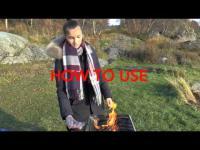 Foldable grill, BarbIQ