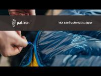 YKK semi-automatic zipper Patizon
