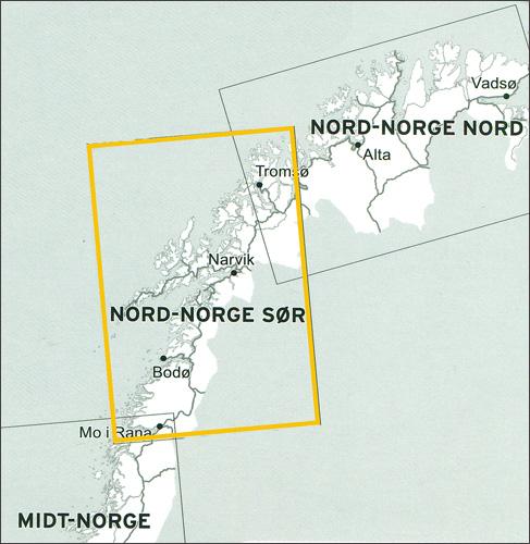 Veikart Nord-Norge Sør