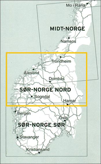 Veikart Sør-Norge Nord